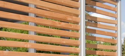 Holzlattung für Stahlcarports